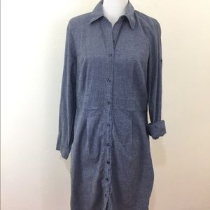 Merona Chambray Button Down Long Sleeve Dress